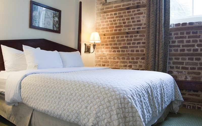 King Suite with Exposed Brick