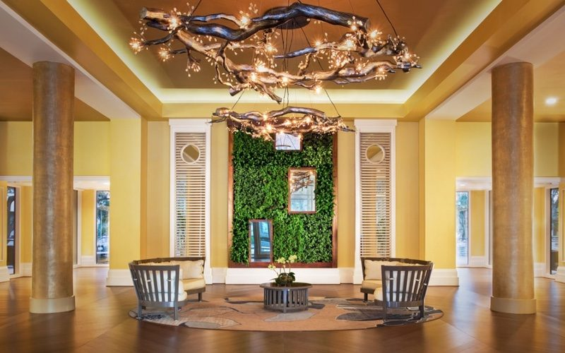 Lobby with Living Wall